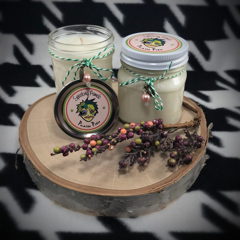 Sparkling Pomelo Scented Soy Candle - Picasso Pixie
