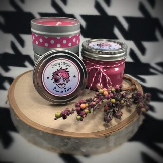 "Champú 4oz Candle with sugar skull 1"" button pin - image IMG_0714-324x324 on https://www.picassopixie.com"