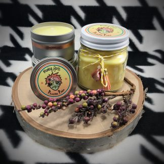 Rose & Apple Blossom Scented Soy Candle - image monkey-farts-324x324 on https://www.picassopixie.com