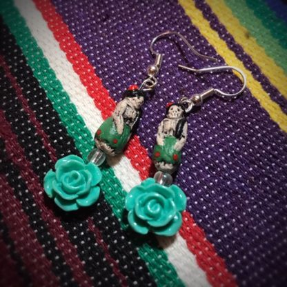 Blue Rose Catrina Doll Earrings - image Blue-Rose-Catrina-doll-earrings-416x416 on https://www.picassopixie.com