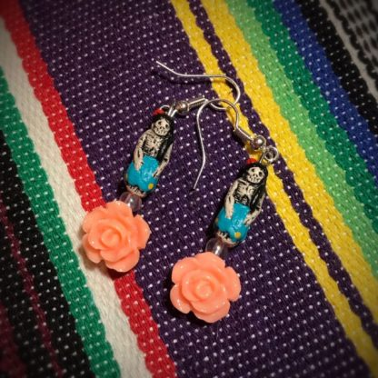 Peach Rose Catrina Doll Earrings - image Peach-Rose-Catrina-doll-earrings-416x416 on https://www.picassopixie.com