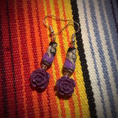 Purple Rose Catrina Doll Earrings - image Purple-Rose-Catrina-doll-earrings-416x416 on https://www.picassopixie.com