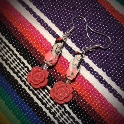 Pink Rose Catrina Doll Earrings - image pink-Rose-Catrina-doll-earrings-416x416 on https://www.picassopixie.com