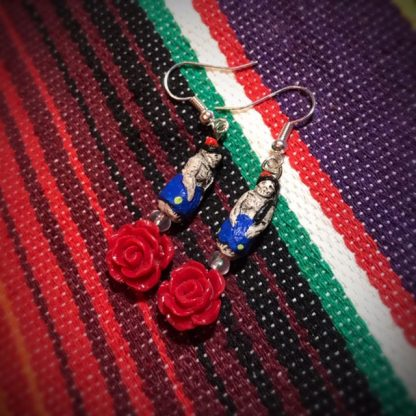 Red Rose Catrina Doll Earrings - image red-Rose-Catrina-doll-earrings-416x416 on https://www.picassopixie.com