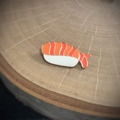 Shrimp Nigiri Sushi Fashion Enamel Pin - image  on https://www.picassopixie.com
