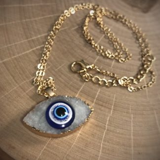 Resin Crystal Eye Fashion Pendant Necklace - image  on https://www.picassopixie.com