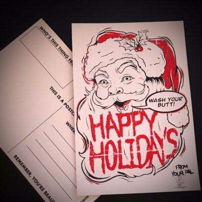 Limited Edition Tattooed Boy Holiday Postcard - image  on https://www.picassopixie.com