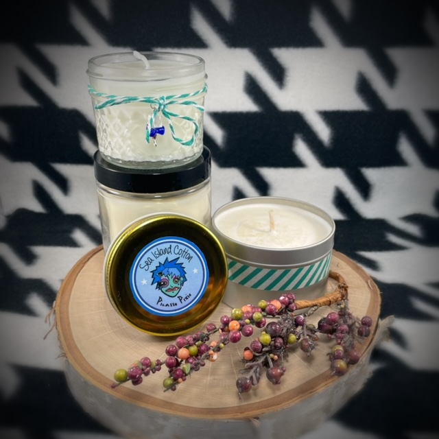 Grapefruit & Mint Scented Soy Candle - image  on https://www.picassopixie.com
