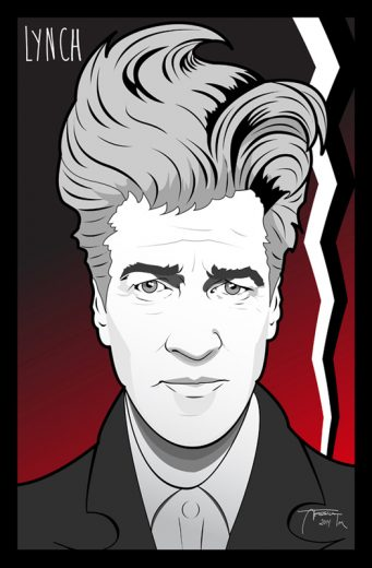 David Lynch Digital Fan Art Print - image DavidLynch_web on https://www.picassopixie.com