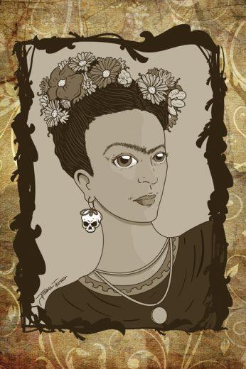 Frida Kahlo Sepia Digital Art Print - image FridaKahloSepia on https://www.picassopixie.com