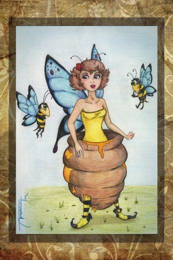 Honey Run Art Print - image HoneyRun on https://www.picassopixie.com