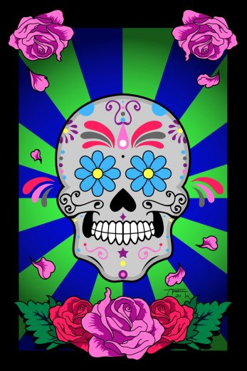 Muertos Digital Art Print - image Muertos on https://www.picassopixie.com
