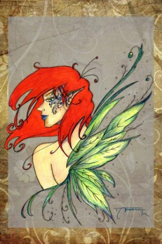 Landing Interrupted Art Print - image RedHeadFairy-324x487 on https://www.picassopixie.com