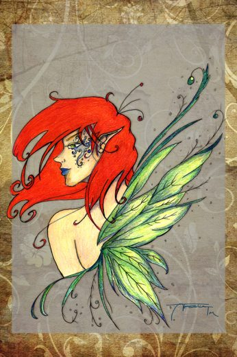 Redhead Fairy Art Print - image RedHeadFairy on https://www.picassopixie.com