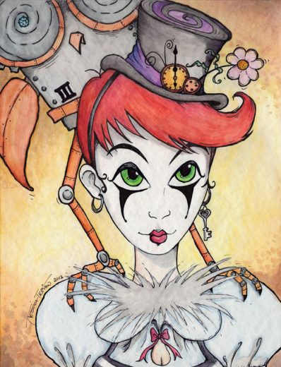 Steampunk Mime Art Print - image steampunkgirl_web on https://www.picassopixie.com